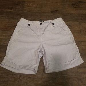 Rafaella Striped Chino Shorts